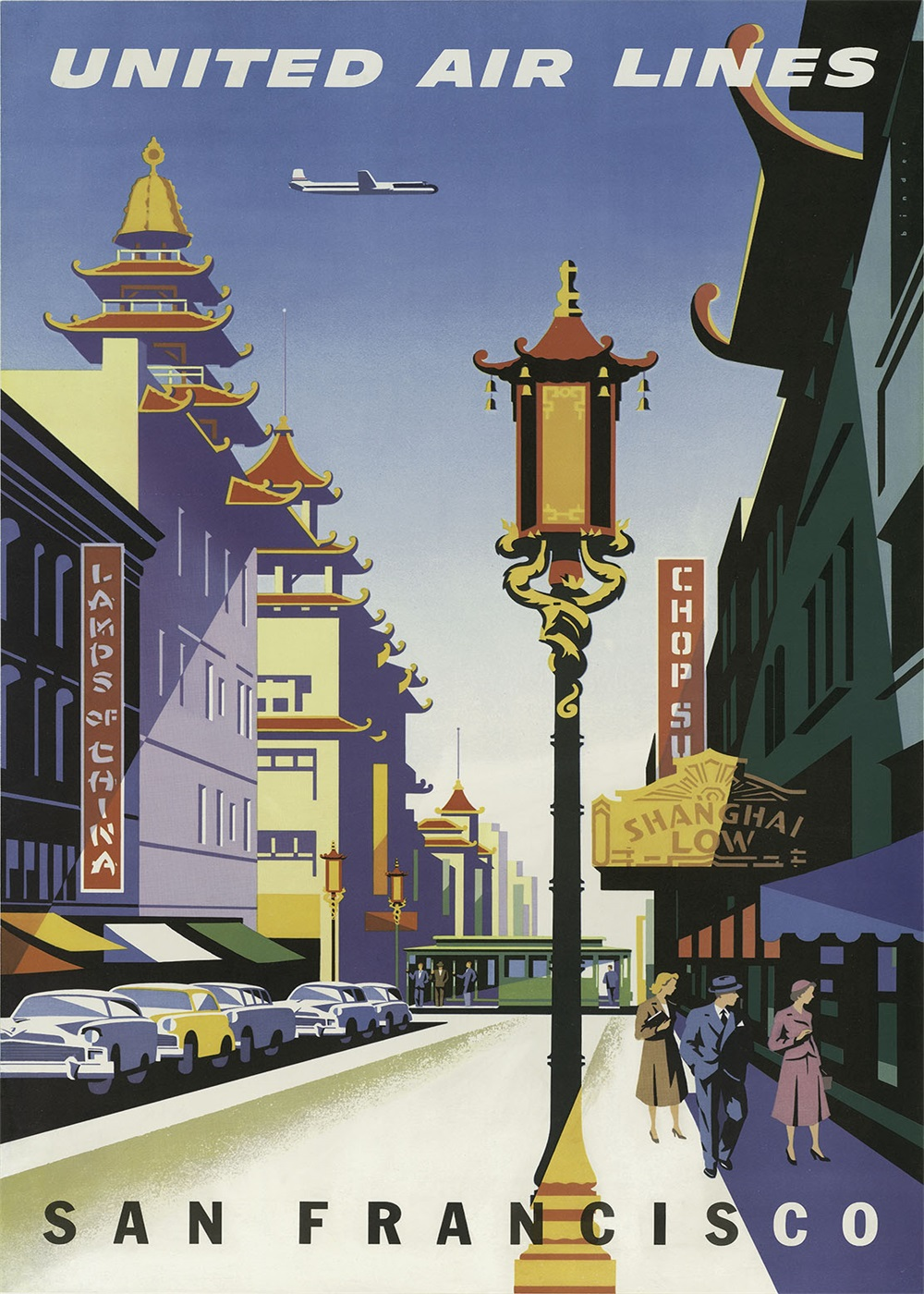Pop Art San Francisco Chinatown Propaganda Classic Vintage Retro Kraft  Decorative Poster Maps Home Bar Posters Wall Decor Gift