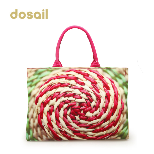 Hot New Multi Colored Dosail Print Women S Handbag Canvas Bag Lady Part Colorful European Brand