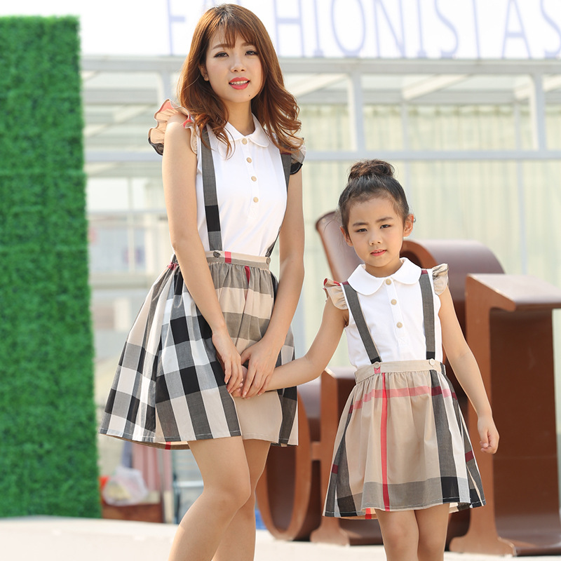 Family matching mother daughter mommy and me clothes family look korean fashion clothing wear girls women summer dress outfits 3 2017 summer children clothing mother and daughter clothes xl xxl lady women infant kids mom girls family matching casual pajamas