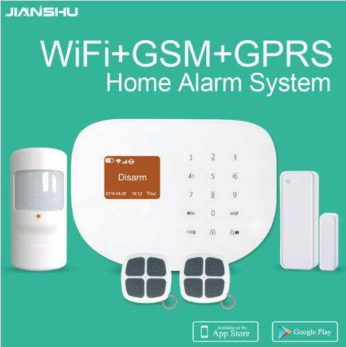 factory price Touch keypad Display home alarm system  pstn gsm alarm Security System Smart Android for Fire alarm system wireless smoke fire detector for wireless for touch keypad panel wifi gsm home security burglar voice alarm system