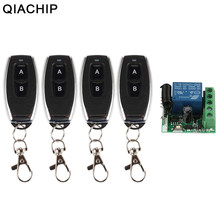 QIACHIP 433 Mhz Universal Wireless Remote Control Switch DC 12V 1CH Relay Receiver Module + Transmitter Electronic Lock Control(China)