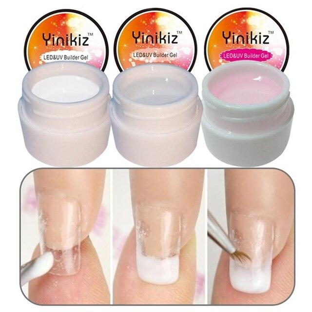 Material práctico de fototerapia UV para uñas pegamento para decorar uñas de cristal pegamento de extensión de uñas Gel UV esencial barato