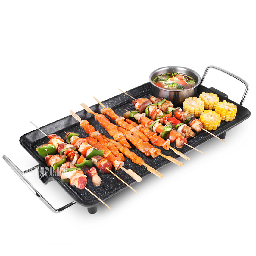 где купить RS-KP151A Multi-function Korean electric grill round buffet barbecue household smoke-free non-stick electric baking pan 1700W по лучшей цене
