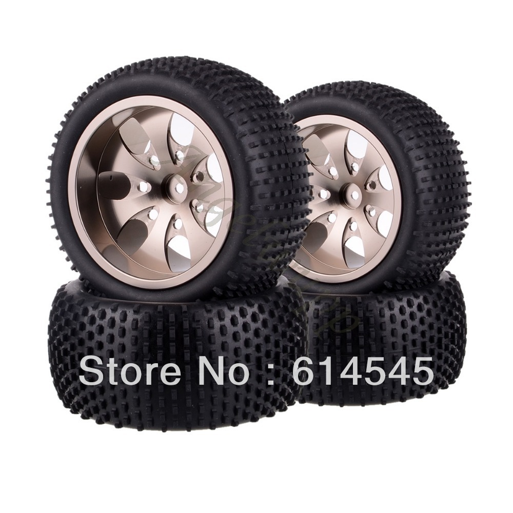 4xRC Monster Truck Bigfoot Metal 1:10 Wheel Rim & Tyre Tires 12MM HEX 88123 genuine leather men wallet cash clip small male purse nfc blocking card holder anti scan credit card rfid protection porte carte