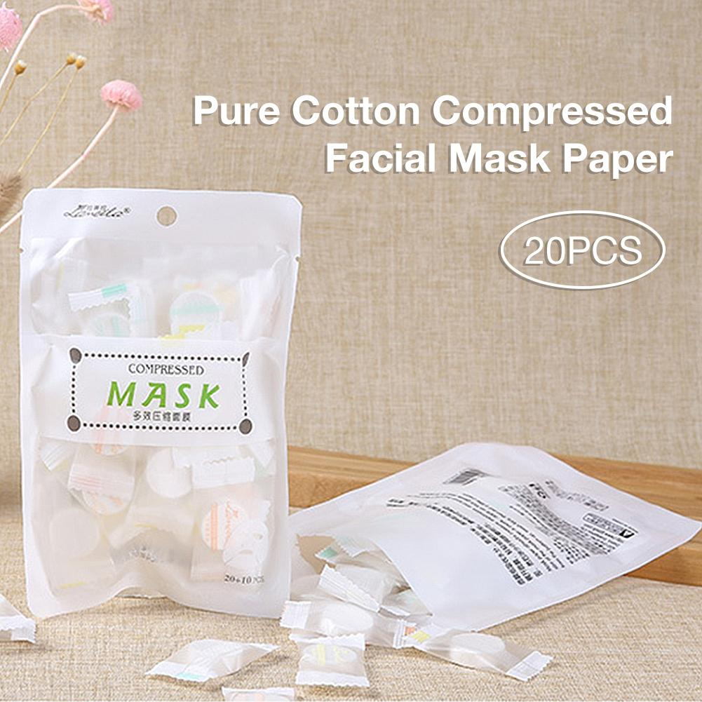 30pcs bag Compressed Face Mask Paper Disposable Facial Masks Papers Natural Skin Care Wrapped Masks DIY Women Makeup Beauty Tool