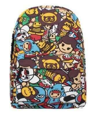 4d64533dc3a Free shipping Kxie Brandis New softback backpack fashion girl high school  schoolbag schoolboy graffiti cartoon Backpack