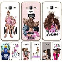 Luxury Baby Mom Girl Queen Woman For Samsung Galaxy J3 J4 J5 J6 J7 J8 Plus 2016 2017 2018 J2 Prime phone Case Cover Coque Etui