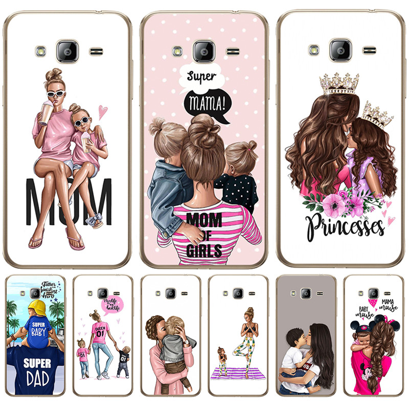 Luxury Baby Mom Girl Queen Woman For Samsung Galaxy J3 J4 J5 J6 J7 J8 Plus 2016 2017 2018 J2 Prime phone Case Cover Coque Etui image