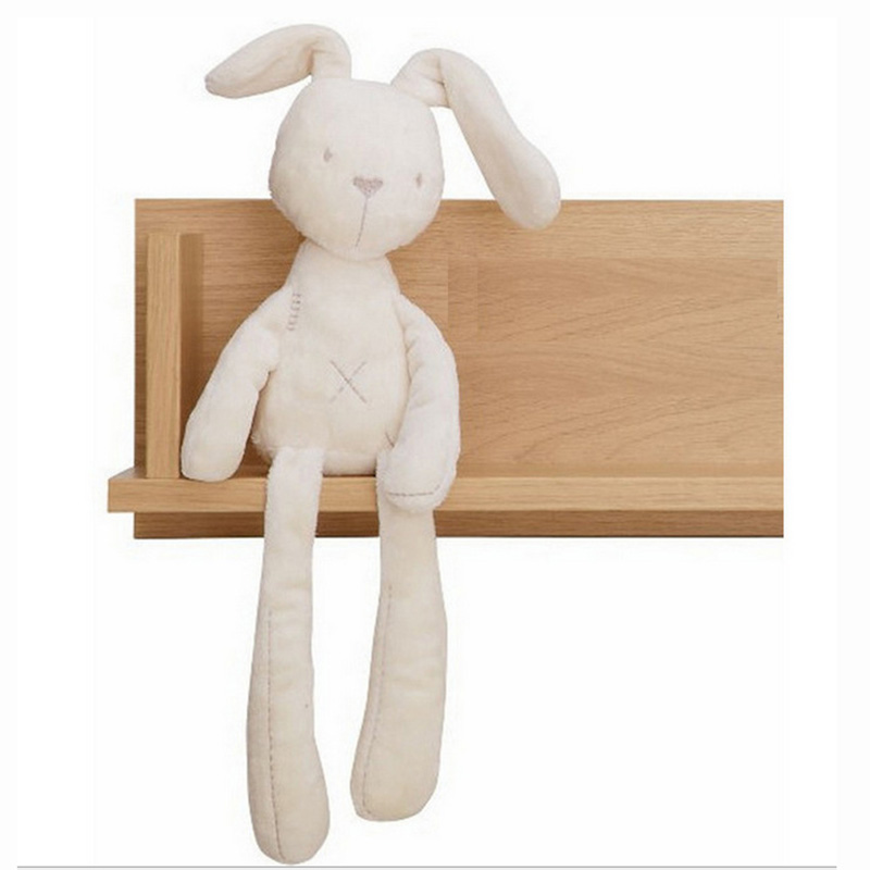 все цены на 55cm Baby Rabbit Sleeping Comfort Mamas & Papas Doll Plush Toys Millie & Boris Smooth Obedient Rabbit Sleep Calm Doll Free Ship онлайн