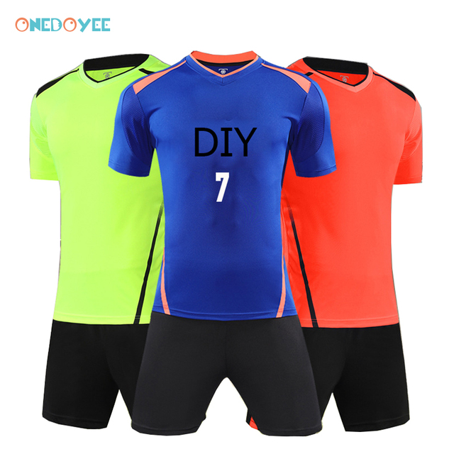 f5f1c8294 Onedoyee New Children Soccer Jerseys Kids Soccer Set Boys Custom Football  Jersey Uniforms Baby Boy Football Sets Clothes Shorts