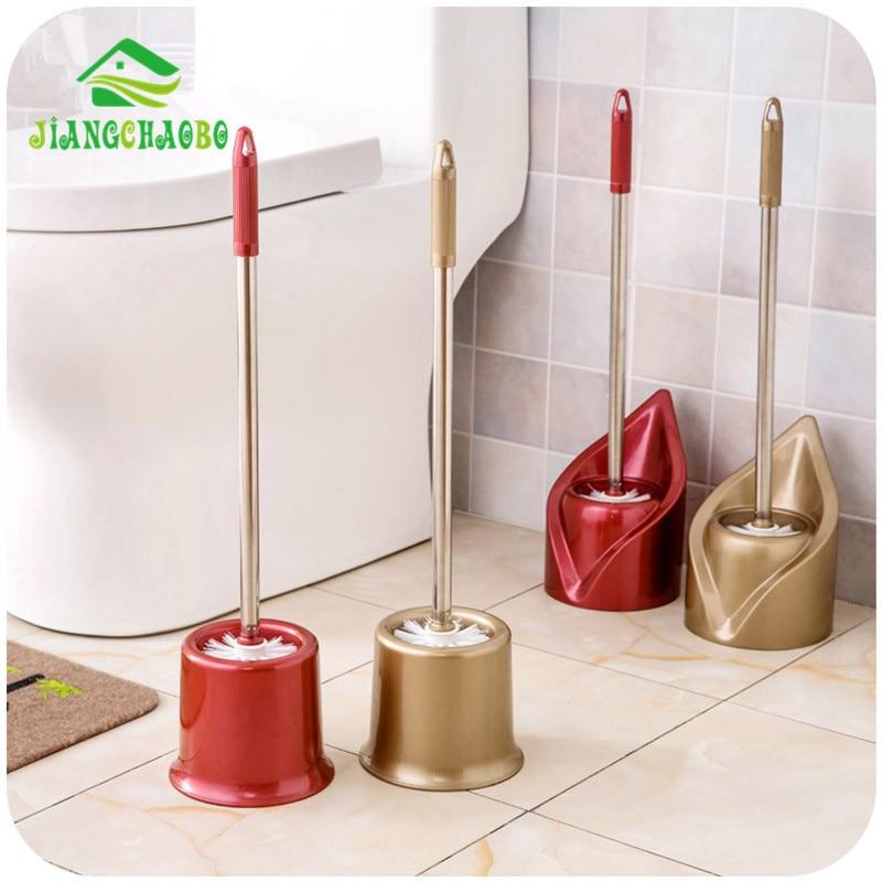 JiangChaoBo 1 PC 교체 스테인레스 스틸 화장실 화장실 청소 브러시 화이트 헤드 화장실 도구를 잡아라