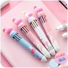 30pcs/lot  wholesale silicone cartoon Firebird multi-color ball pen , ten color press ballpoint