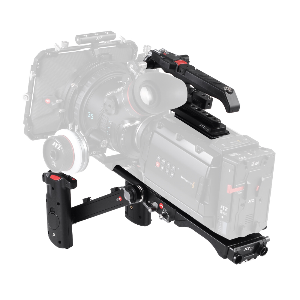 JTZ DP30 Camera Cage Baseplate Shoulder Rig KIT For Blackmagic URSA MINI 4K 4.6K jtz dp30 cage baseplate rig top handle for bmpcc blackmagic pocket cinema camera page 6