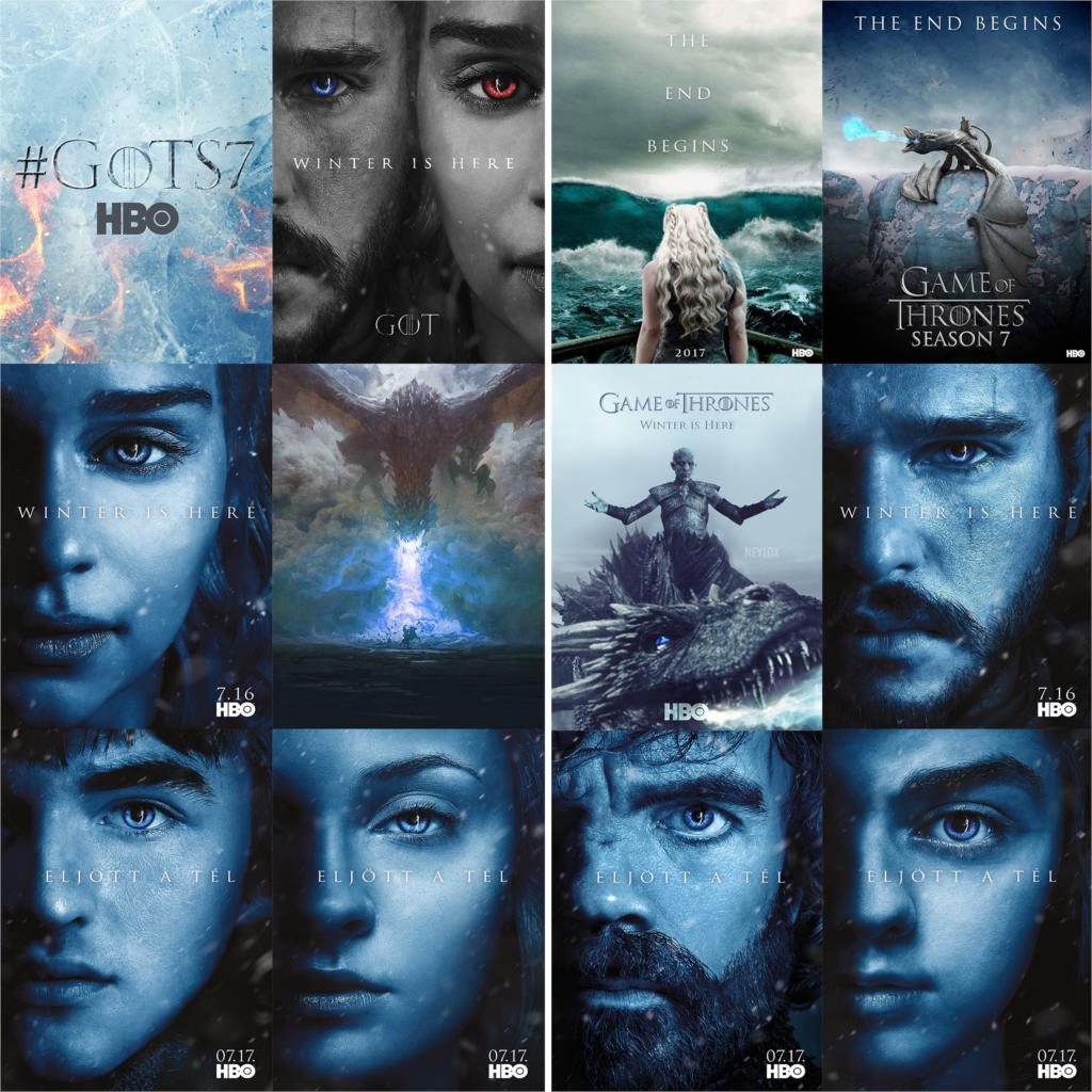 Game of Thrones Season 7 Posters White Coated Paper Vivid Color Prints Wall Decoration free shipping image