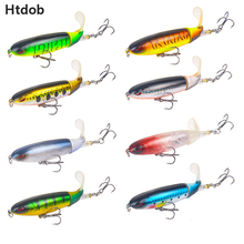 Htdob 8Pcs Fishing Lures Propeller Rotate soft tail 13G/10CM