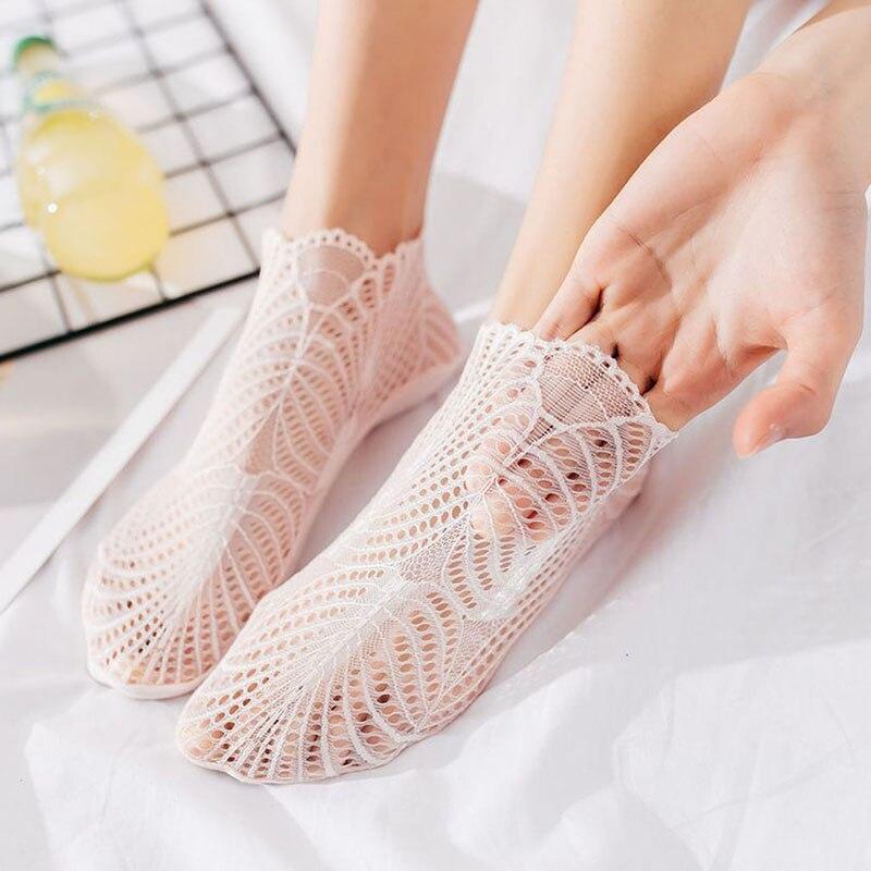 Dynamisch Vrouwen Korte Sokken Slippers Katoen Dunne 3d Print Lace Mesh Boot Sokken Low Cut Vrouwen Zomer Onzichtbare Leuke Enkelsokken Een Onmisbare Soevereine Remedie Voor Thuis