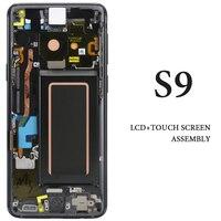 Для samsung S9 ЖК дисплей 5,8 ''с рамкой цвет: черный, синий фиолетовый AMOLED G960 G960F дигитайзер сборка запасной Запчасти Экран дисплея