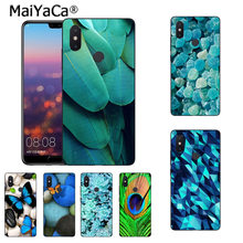 Maiyaca Batu Pirus Flora Feather Modis Sarung Telepon Casing untuk Xiaomi Mi 8 Se 6 Note2 Note3 Redmi 5 Plus Note4 5 sarung(China)