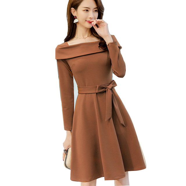 437c438d8dd Pink Long Sleeve Bandage Dress Brown Elegant Ladies Dresses Casual Kleider  Damen Aesthetic Ropa Summer Clothes For woman50Q258