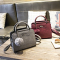 Women bag autumn and winter new handbag small square package frosted pattern tide Korean version of the wild shoulder small Mess