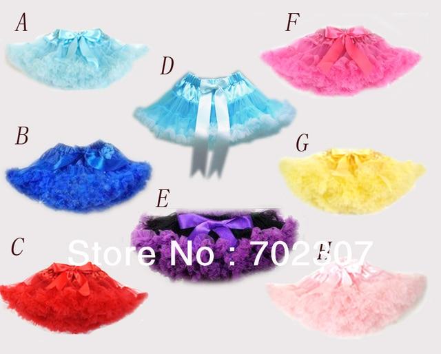 Розничная девочка юбка, многие цвет pettiskirt, дети pettiskirt, партия танец одежда бесплатная доставка 656