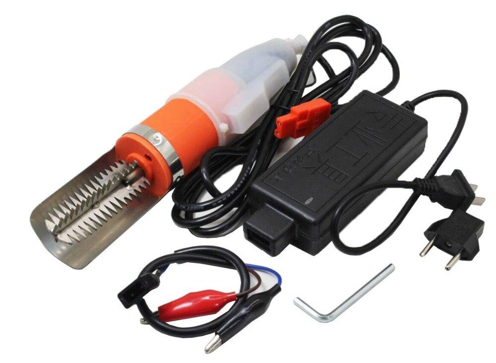 AC 100 В-240 В мощный Электрический рыбьей кожи скалер для удаления накипи масштаб скребок Ножи чешуйчатый морепродукты инструменты