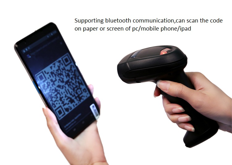 LS07B Bluetooth 2D /QR Barcode Scanner Reader, Wireless Barcode Reader Supporting Android and Windows