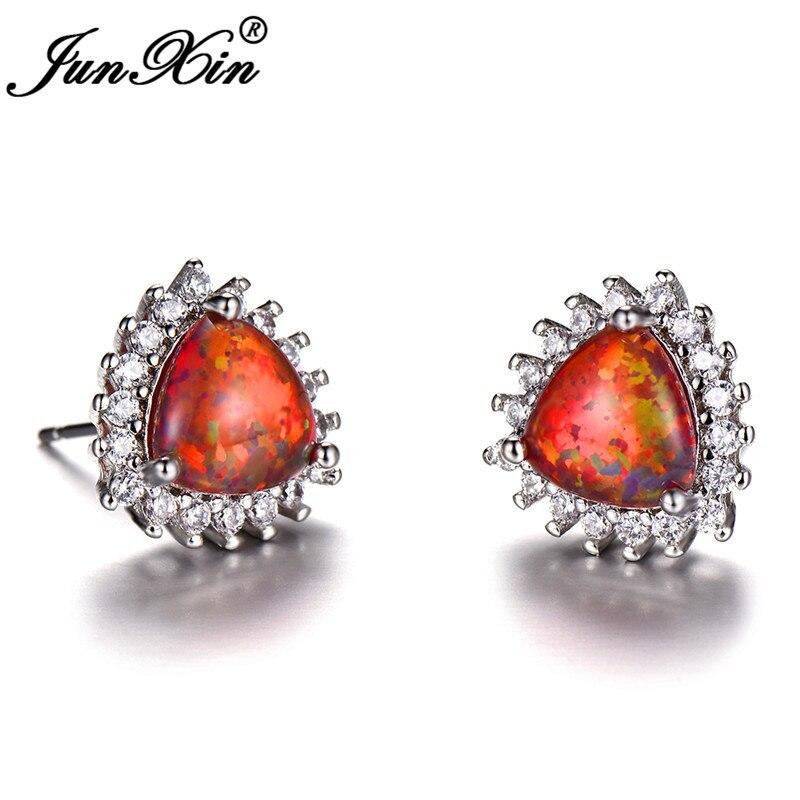 Orange Opal Earrings