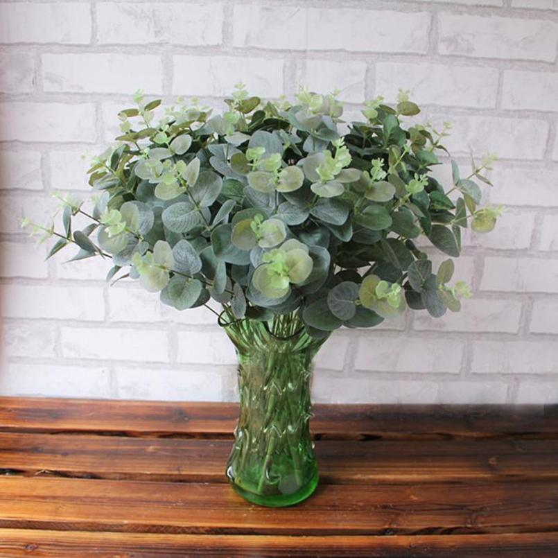 Artificials Fake Leaf Eucalyptus Leave Simulation Leaves Wedding Party Home Decor L530 ...