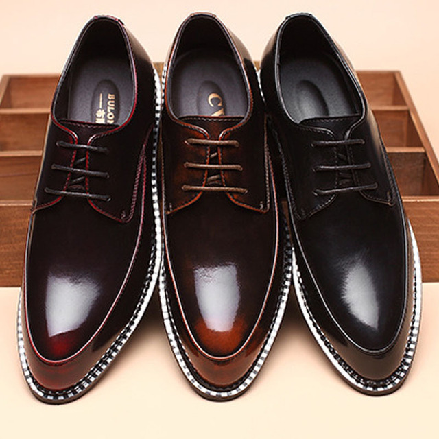 2015 new casual men shoes breathable office oxfords high quality Genuine  patent leather groom wedding shoes size 38-44 07f157164b33