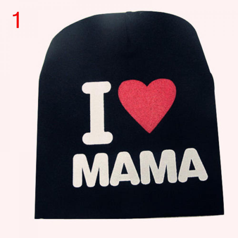 1 Pcs Cute Warm Baby Hat I LOVE MAMA/PAPA Knitted Cotton Beanie Cap for Baby Toddler Boy and Girls Star Hat
