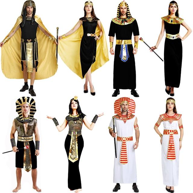 Regina egiziana cleopatra fantasia principessa costume sexy delle donne  antico faraone abbigliamento abiti costumi degli uomini c6a8094eb57