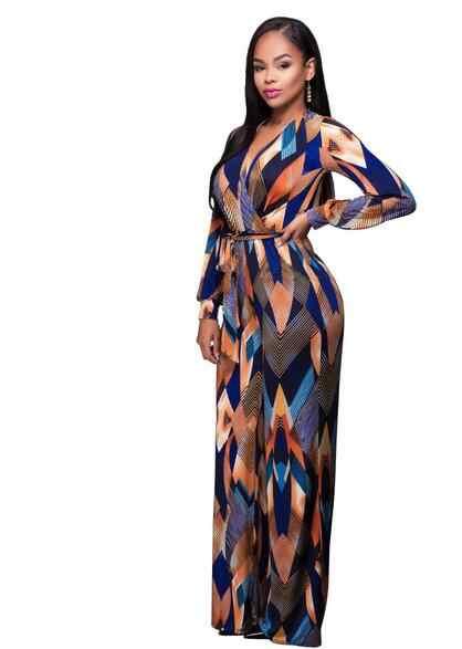 Летний комбинезон для женщин детские длинные Комбинезоны женские Комбинезоны с принтом длинный рукав плюс размер женские Vestidos FC5
