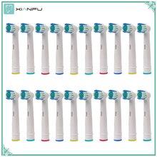 20 sztuk Oral B głowice wymienne do elektrycznej szczoteczki do zębów dla Braun oral b miękkie włosie, witalność Dual Clean/profesjonalna opieka