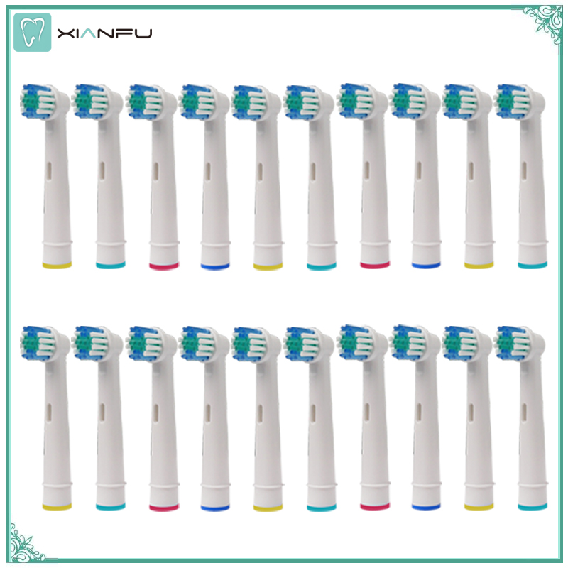 20PCS Oral B Electric Toothbrush Replacement Heads For Braun Oral-b Soft Bristle,Vitality Dual Clean/Professional Care image