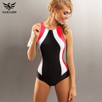 NAKIAEOI 2016 Professional Swimwear One Piece Swimsuit Women Backless Monokini Swimsuit Sport Bodysuit Beach Bathing Suit