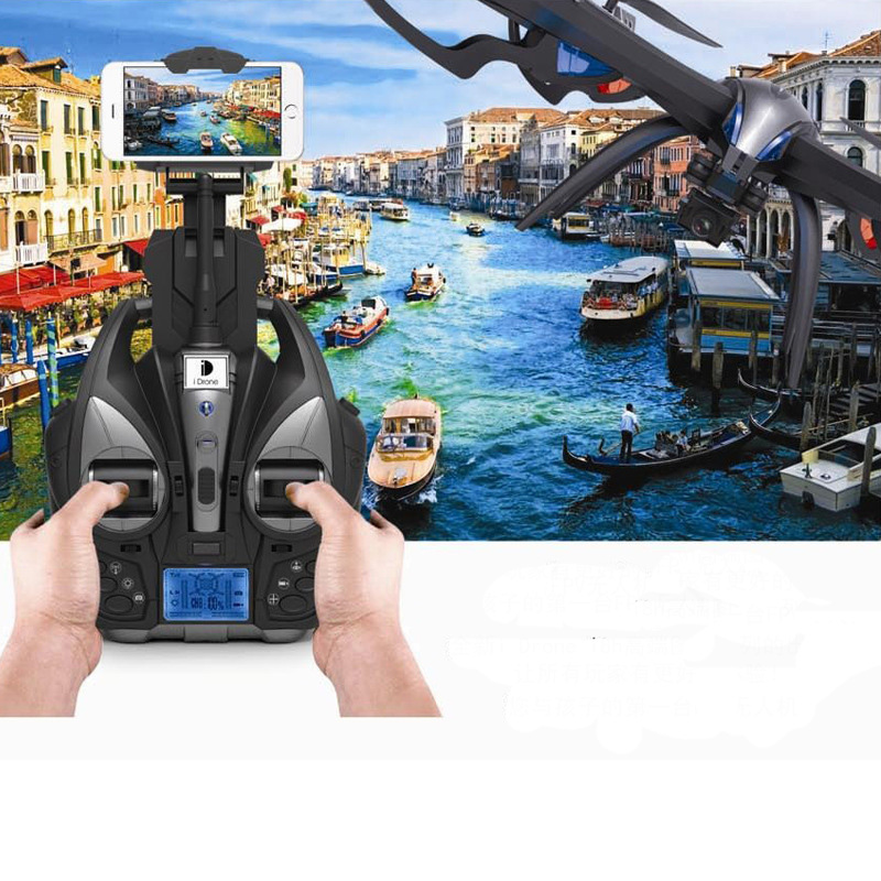 YiZhan I8H 4Axis Professiona RC Drone Wifi FPV HD Camera Video Remote Control Toys Quadcopter Helicopter Aircraft Plane Toy syma x8w rc drone wifi fpv camera hd video remote control led quadcopter toy helicoptero air plane aircraft children kid gift