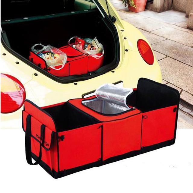 BEMTOO Dobrável Multi Compartimento Organizador do Assento de Carro Cobre Isolado Recipiente De Armazenamento De Alimentos Cesta de Sacos de Estiva Tidying