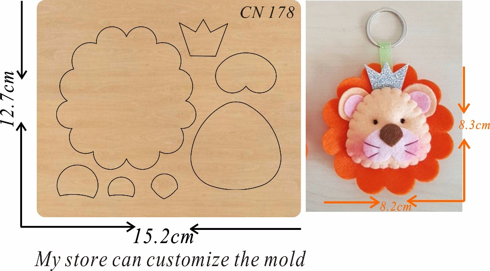 Little Lion Head new wooden mould cutting dies for scrapbooking Thickness 15 8mm