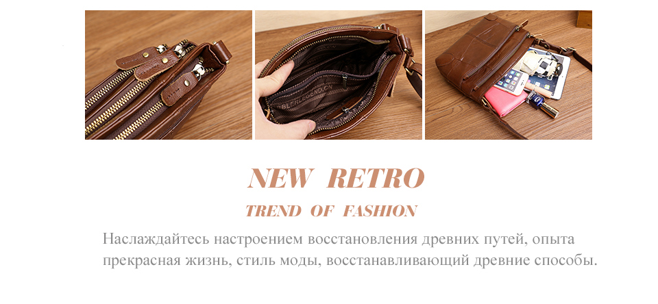 istylishmall- Multi Pockets Vintage Genuine Leather Bag Female Small Women Handbags Bags For Women 2018 Shoulder Crossbody Bag