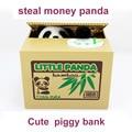 2016 Nueva Lindo Panda Automático Robó el Banco Guarro de La Moneda Tamaño dinero Caja de Ahorro Hucha Regalos de la Mordaza juguetes de La Novedad para los niños FSWOB