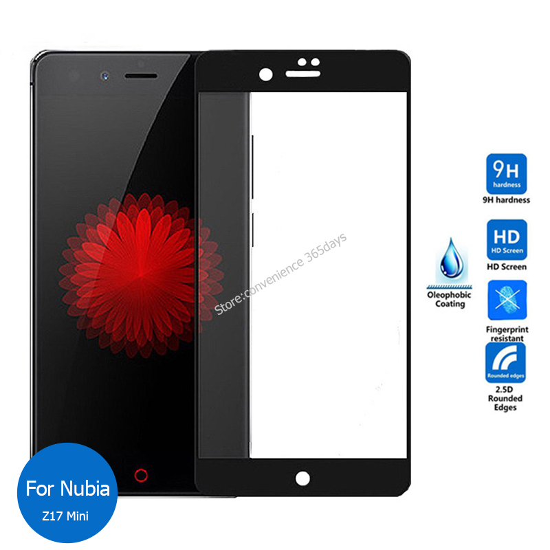 Full Cover Tempered Glass For <font><b>Zte</b></font> <font><b>Nubia</b></font> V9 Vita V8 Z17 Lite Z11 <font><b>Mini</b></font> <font><b>S</b></font> Z17S X Screen Protector Protective Film On <font><b>Z</b></font> 17 18 <font><b>11</b></font> V 9 image