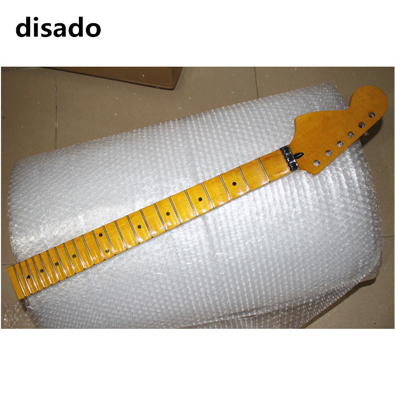 disado guitar parts 22 Frets reverse big headstock maple Electric Guitar Neck maple scallop fretboard guitar accessories hot electric guitar jazz hollow body guitar black color chrome parts customised headstock shape