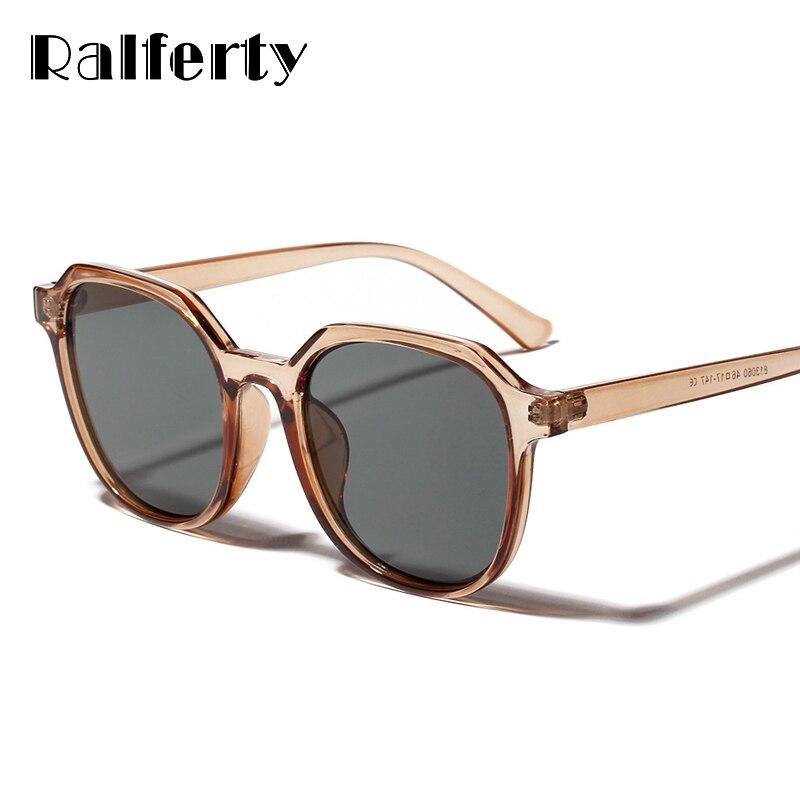 Ralferty женские ретро очки Брендовые дизайнерские 2019 Винтажные Солнцезащитные очки UV400 женские очки пластиковая оправа оттенки Oculos W813060
