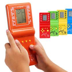 Ретро классический кирпич игра игрушка тетрис Ручной ЖК-дисплей электронная игра игрушка 9999 случайный