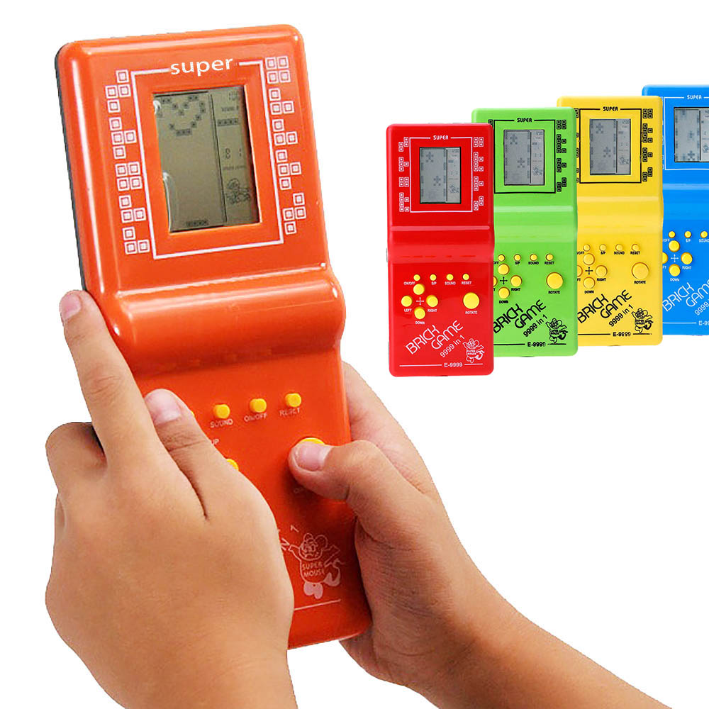 Retro Classic Brick Game Toy For Tetris Hand Held LCD Electronic Game Toy 9999 Random