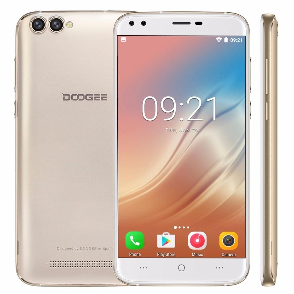 Original Doogee X30 ROM 16GB Smartphone MTK6580 Quad Core 5.5 Inch Android 7.0 RAM 2GB GPS 3G Cellphone OTA Dual Back Camera FM