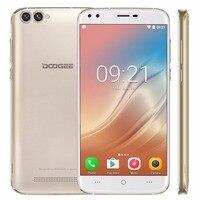 Original doogee X30 Rom 16 GB smartphone MTK6580 Quad Core 5.5 pulgadas Android 7.0 Ram 2 GB GPS 3G teléfono Móvil OTA doble cámara trasera FM