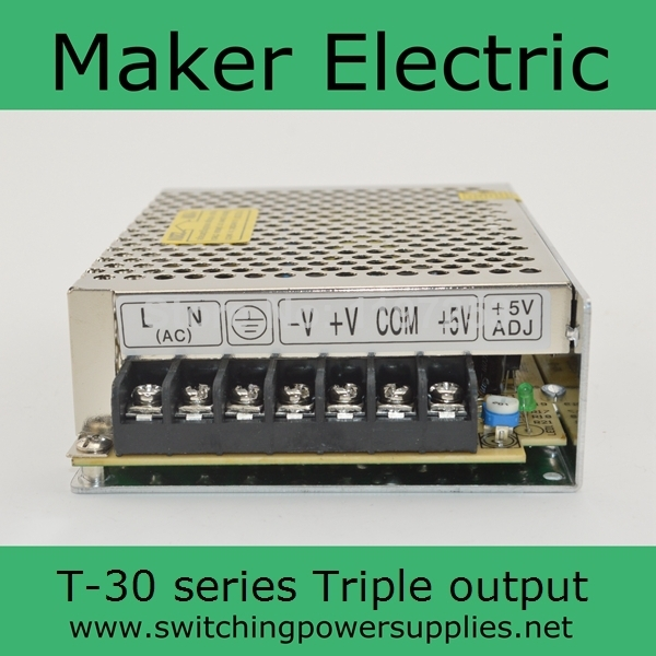 Factory outlet ! 30W 5V 12V -12V Triple output psu switching power supply  T-30B High quality 2 years warrantyFactory outlet ! 30W 5V 12V -12V Triple output psu switching power supply  T-30B High quality 2 years warranty