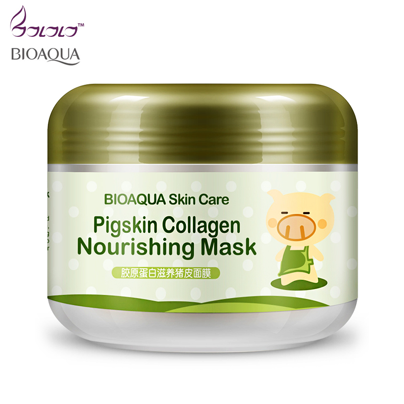 Bioaqua Brand Sleep Treatment Face Maskers Whitening Stickers Cleansing Blackheads Remover Carbonated Bubble Clay Mask Skin Care